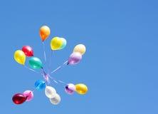 De kaart van ballons Stock Afbeelding