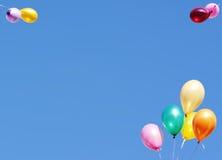 De kaart van ballons royalty-vrije stock afbeelding