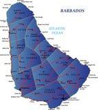 De kaart van Barbados Stock Foto