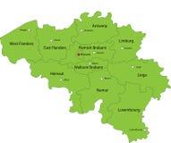 De kaart van België stock illustratie