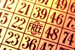 De Kaart van Bingo Stock Afbeelding