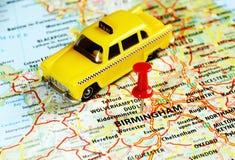 De kaart van Birmingham, het UK stock afbeelding