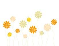 De kaart van bloemen royalty-vrije illustratie