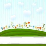 De kaart van bloemen Stock Afbeelding