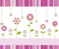 De kaart van bloemen Stock Foto