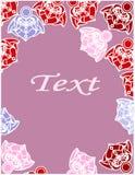 De kaart van bloemen Royalty-vrije Stock Afbeeldingen
