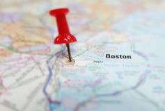 De kaart van Boston Stock Afbeelding