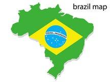 De kaart van Brazilië Royalty-vrije Stock Afbeeldingen