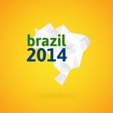 De kaart van Brazilië van de driehoekstextuur Royalty-vrije Stock Foto's