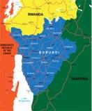 De kaart van Burundi Royalty-vrije Stock Afbeelding