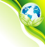 De Kaart van Businees van de Aarde van het milieu Royalty-vrije Stock Fotografie