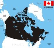 De Kaart van Canada Royalty-vrije Stock Afbeeldingen