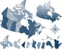De kaart van Canada Stock Afbeelding