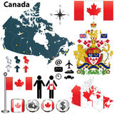 De kaart van Canada Stock Fotografie