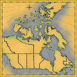 De kaart van Canada Royalty-vrije Stock Foto