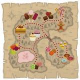 De kaart van Candyland Stock Fotografie