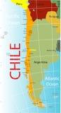 De kaart van Chili. stock illustratie