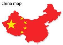 De kaart van China Stock Foto