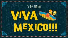 De kaart van de Cincode Mayo groet van mariachidecoratie