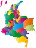 De kaart van Colombia vector illustratie