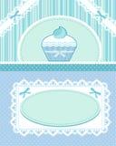 De kaart van Cupcake Stock Foto's