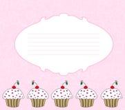 De kaart van Cupcake Royalty-vrije Stock Fotografie