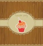 De Kaart van Cupcake royalty-vrije illustratie