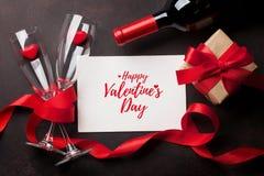 De kaart van de de daggroet van de valentijnskaart `s stock afbeelding