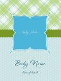 De Kaart van de Aankomst van de Jongen van de baby met Frame Stock Afbeeldingen