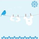 De kaart van de Aankondiging van de Aankomst van de Jongen van de baby Royalty-vrije Stock Afbeeldingen