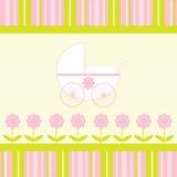 De Kaart van de Aankondiging van de Aankomst van het Meisje van de baby Stock Foto's