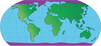 De kaart van de aarde Royalty-vrije Stock Foto's