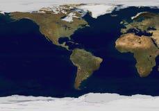 De kaart van de aarde Stock Afbeeldingen