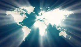 De kaart van de aarde Stock Foto's