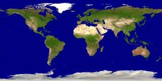 De kaart van de aarde Royalty-vrije Stock Fotografie