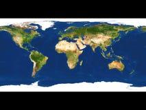 De kaart van de aarde stock illustratie