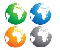 De kaart van de aarde Royalty-vrije Stock Foto