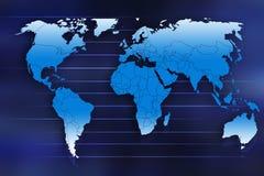 De kaart van de aarde Royalty-vrije Stock Afbeelding