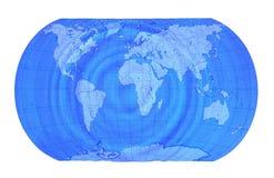 De kaart van de aarde Royalty-vrije Stock Afbeeldingen