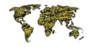 De kaart van de aarde Stock Fotografie