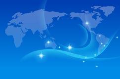 De kaart van de aarde, vector stock illustratie