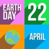 De kaart van de aardedag Stock Foto's