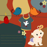 De kaart van de baby Royalty-vrije Stock Foto's