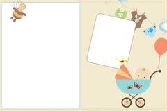 De Kaart van de baby Stock Afbeeldingen