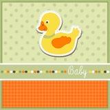 De kaart van de babyaankomst Stock Fotografie