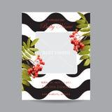 De Kaart van de babyaankomst met Fotokader - Autumn Floral Theme Royalty-vrije Stock Afbeeldingen