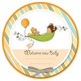 de kaart van de babyaankondiging Royalty-vrije Stock Afbeeldingen