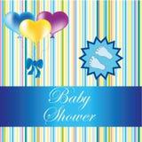 De kaart van de babydouche Stock Fotografie