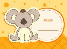 De kaart van de babydouche met koala Stock Fotografie