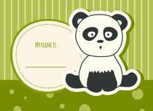 De kaart van de babydouche met panda Stock Foto's